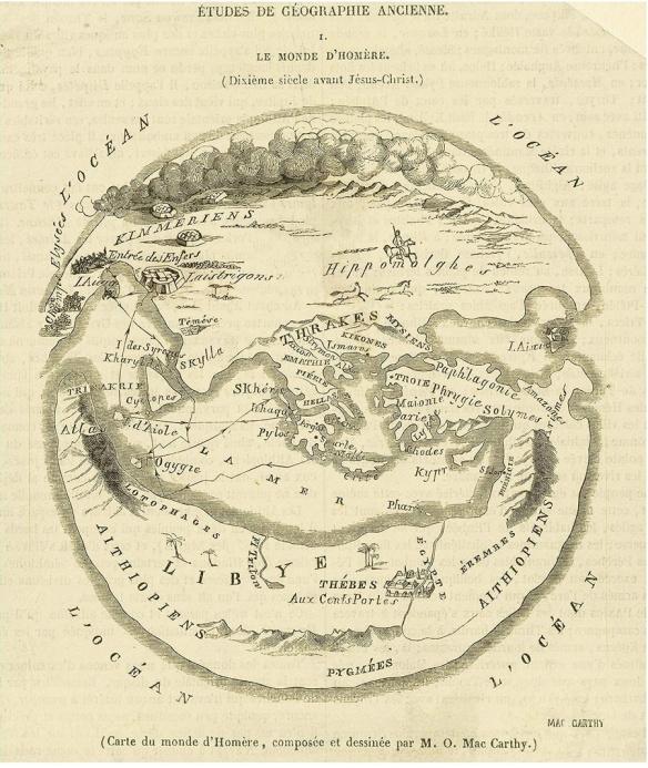 Carte du Monde d'Homère