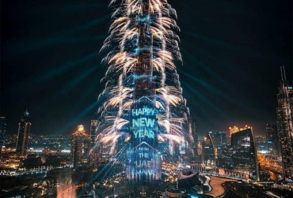New Year 2021 Burj Khalifa, Dubaï