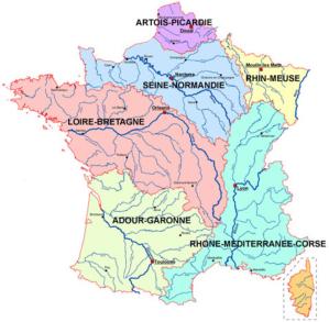 Les bassins versants de la France
