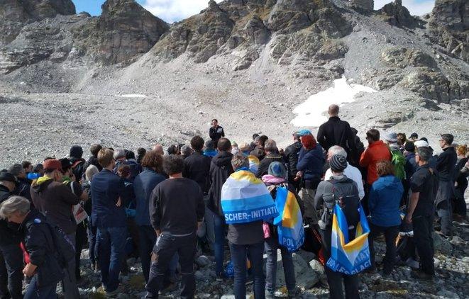 Funérailles du glacier Pizol, Suisse